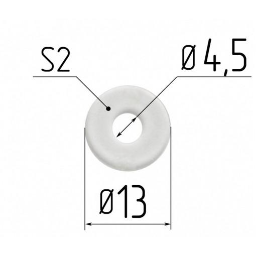 Протекторное кольцо для люстр диаметр 4,5 мм под шуруп 2мм.