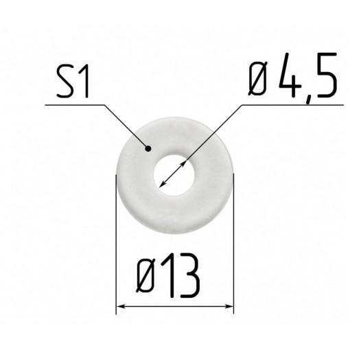 Протекторное кольцо для люстр диаметр 4,5 мм под шуруп 1мм.
