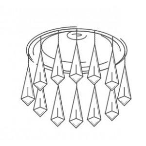 Хрустальные точечные светильники