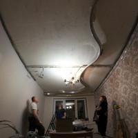 каркас криволинейный натяжной потолок