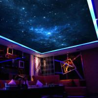 Фотопечать звёздного неба на потолке