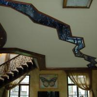 индивидуальный дизайнерский натяжной потолок 3D разлом
