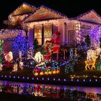 Приёмы светового дизайна участка | Новогодний декор
