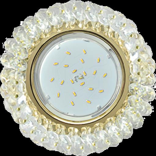 FD53RYECB Встраиваемый светильник Ecola GX53 H4 Glass золото/прозрачный