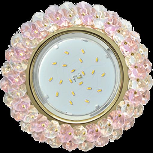 FF53RYECB Встраиваемый светильник Ecola GX53 H4 Glass золото/прозрачный - розовый