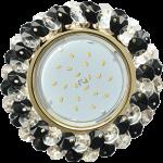 FG53RYECB Встраиваемый светильник Ecola GX53 H4 Glass золото/прозрачный - чёрный FG53RYECB