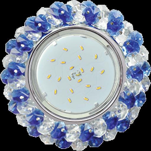 FL53RYECB Встраиваемый светильник Ecola GX53 H4 Glass хром/прозрачный - голубой