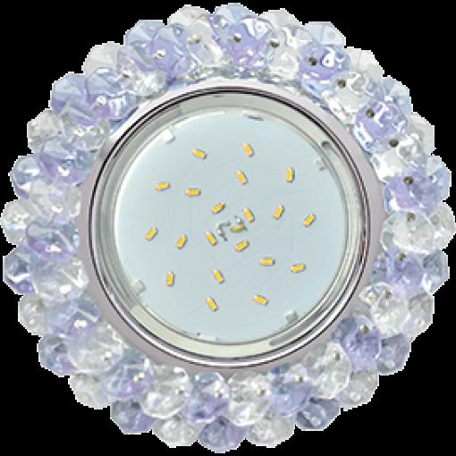 FP53RYECB Встраиваемый светильник Ecola GX53 H4 Glass хром/прозрачный - аметист