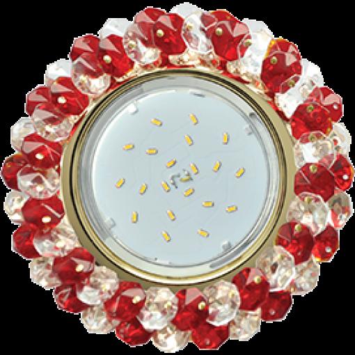 FR53RYECB Встраиваемый светильник Ecola GX53 H4 Glass золото/прозрачный - рубин