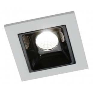 Встраиваемый светодиодный спот Arte Lamp A3153PL-1BK Grill LED 1x3W IP20