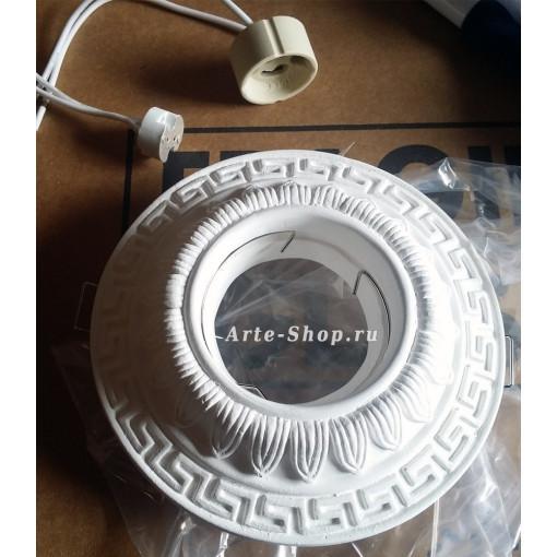 Встраиваемый гипсовый спот (под покраску) ARTE LAMP A5073PL-1WH CRATERE GU10/G5.3 1х50W 220/12V IP21