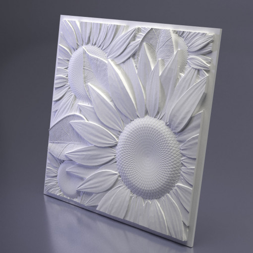 3D Дизайнерская панель из гипса SUNFLOWER