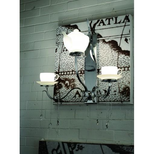 1238 Светильник настенный Teekanne W WH, E14, G9, 1х40 Вт, 2х40 Вт, 67х48х32, белый