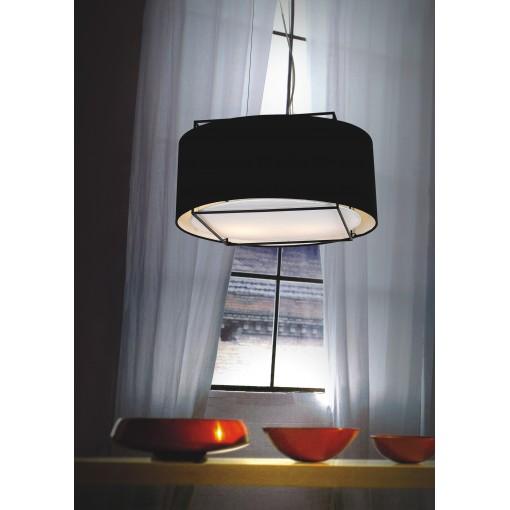 1078 Светильник подвесной Mitternacht C, E27, 3х40 Вт, 200 (макс)х55, черный