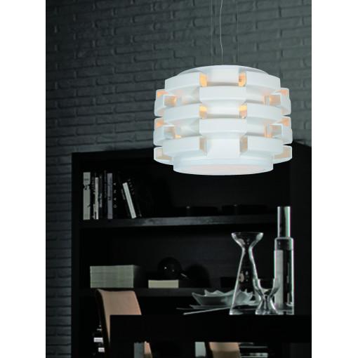 1270 Светильник подвесной Ziegel C WH, E27, 1х100 Вт, 200 (макс)х43,5, белый