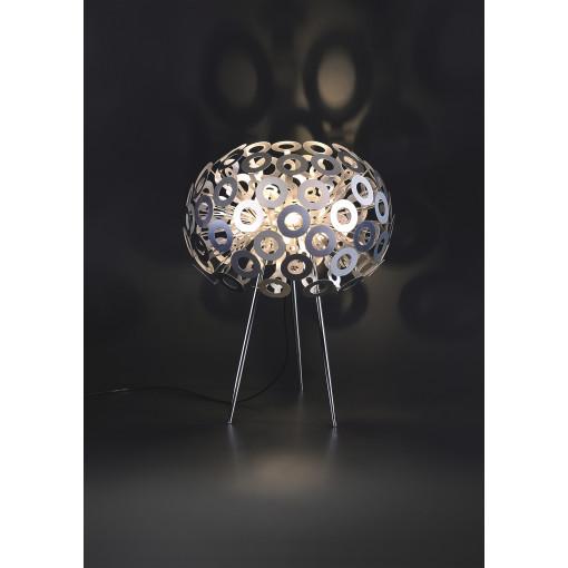 1300 Светильник настольный Pusteblume T SL, E27, 1х100 Вт, 85,5х50, серебро