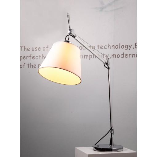 1162 Светильник настольный Kranich T, E27, 1x60 Вт, 137,5 (макс)х24, белый, серебристый мет.