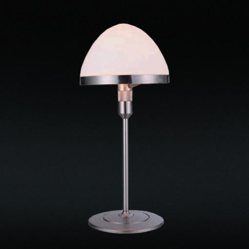 1281 Светильник настольный Uni T WH, E14, 1х60 Вт, 46х21, белый, серебристый мет.