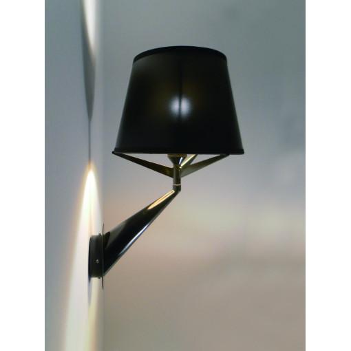 1007 Светильник настенный Glanz W, E14, 1х40 Вт, 32х29,5х20, черный