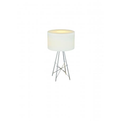 1049 Светильник настольный Moderne T2, E27, 1х100 Вт, 80х43, белый, хром. мет.