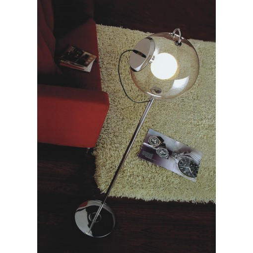 1081 Светильник напольный Feuerball F, E27, 1х60 Вт, 178х30, прозрачный, хром. сталь