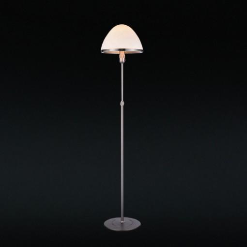 1282 Светильник напольный Uni F WH, E27, 1х100 Вт, 134-178х33, белый, серебристый мет.