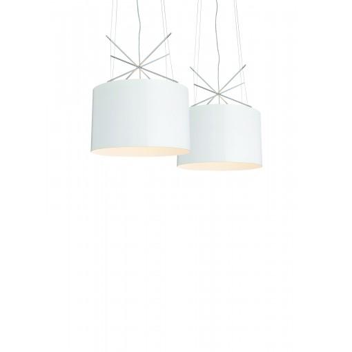 1050 Светильник подвесной Moderne A, E27, 1х100 Вт, 150х43, белый, хром. мет.