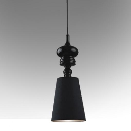 1253 Светильник подвесной Duke C1 BK, Е27, 1х60 Вт, 200 (макс)х18, черный