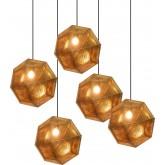 1019 Светильник подвесной Kristall C2 GD, Е27, 1х100 Вт, 150х48, золото