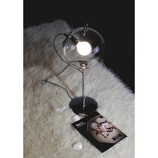 1084 Светильник настольный Feuerball T, E27, 1x60 Вт, 60х25, прозрачный, хром. сталь