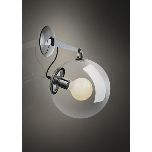 1085 Светильник настенный Feuerball W, E27, 1х60 Вт, 40х25х32,5, прозрачный, хром