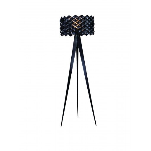 1286 Светильник напольный Mosaik F BK, E27, 1х100 Вт, 158х48, черный