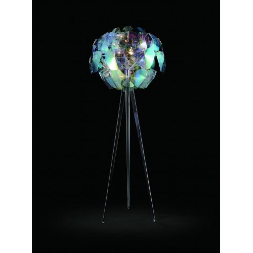 1108 Светильник напольный Mondstein F, E14, 3х60 Вт, 200(макс)х80, разноцветный пластик, хром. сталь
