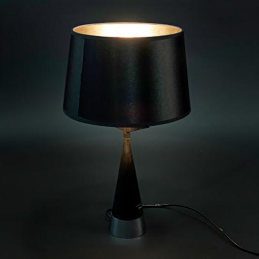 1011 Светильник настольный Glanz T2, E27, 1x60 Вт, 60х42, черный