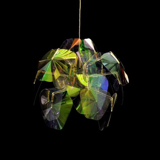 1109 Светильник подвесной Mondstein C1, E27, 1х100 Вт, 200 (макс)х50, разноцветный пластик, хром. мет.