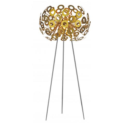 1297 Светильник напольный Pusteblume F GD, E27, 1х100 Вт, 130х50, золото, хром. мет.