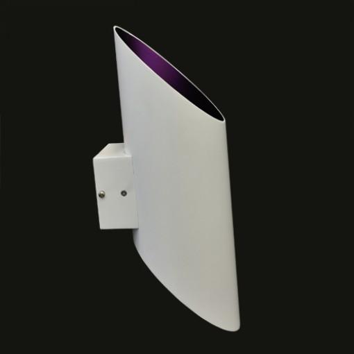1047 Светильник настенный Helligkeit W, E27, 1х, 16х13х40, белый+пурпурный