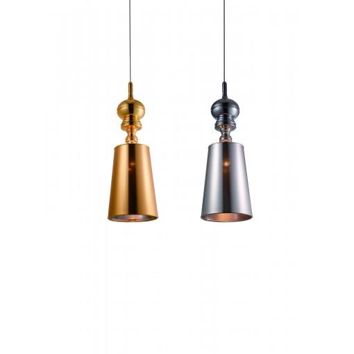 1254 Светильник подвесной Duke C2 GD, Е27, 1х100 Вт, 200 (макс)х25, золото
