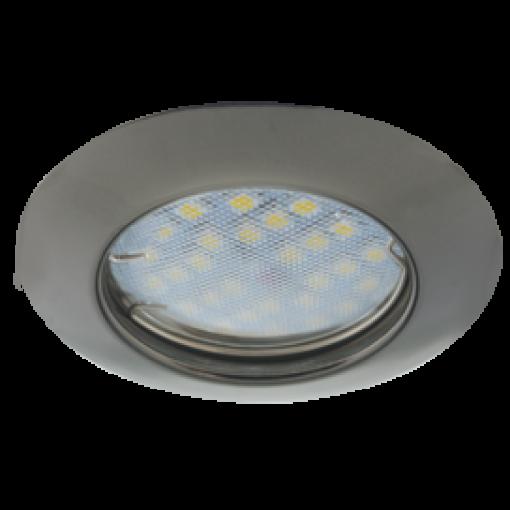 Ecola Light MR16 DL92 GU5.3 Светильник встр. выпуклый Черный Хром 30x80
