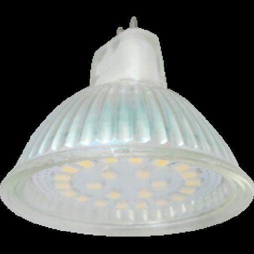 Ecola Light MR16 LED 5,0W 220V GU5.3 2800K прозрачное стекло 48x50