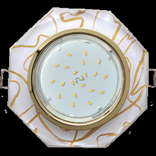 Встраиваемый светильник GX53 Н4 Glass 8-угольник с прямыми гранями