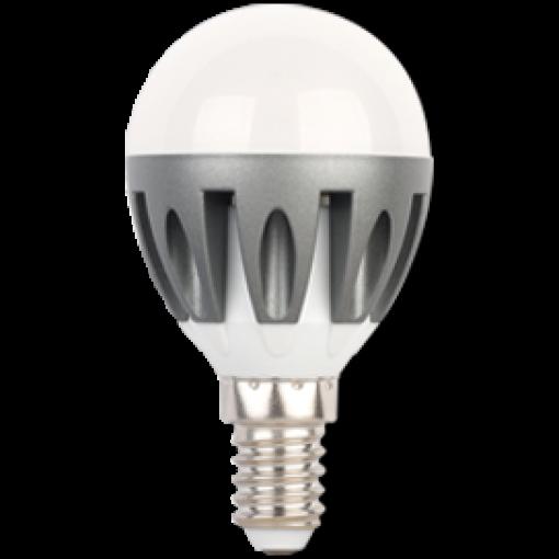 Ecola Light Globe LED 4,1W G45 220V E14 4000K шар (ребристый алюм. радиатор) 82x45