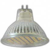 Ecola Light MR16 LED 3W 220V GU5.3 4200K прозрачное стекло 48x50