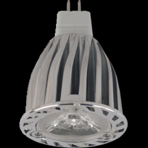 Ecola Light MR16 LED 6,0W 220V GU5.3 4200K 38° (ребристый алюм. радиатор) 66х50