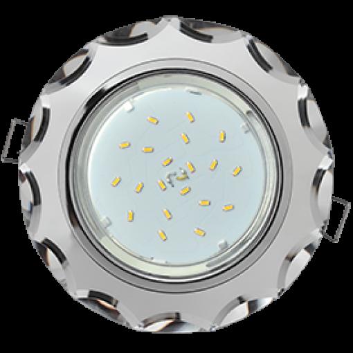 Встраиваемый светильник GX53 Н4 Glass круг с вогнутыми гранями (New)