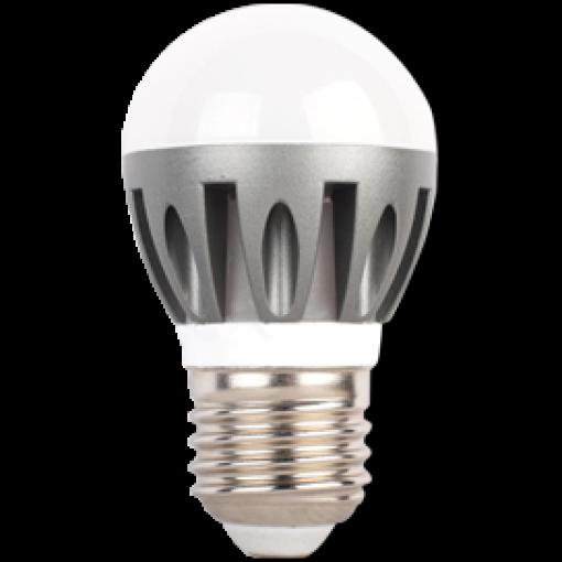 Ecola Light Globe LED 4,1W G45 220V E27 4000K шар (ребристый алюм. радиатор) 82x45