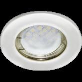 Ecola Light MR16 DL90 GU5.3 Светильник встр. плоский Перламутровое серебро 30x80