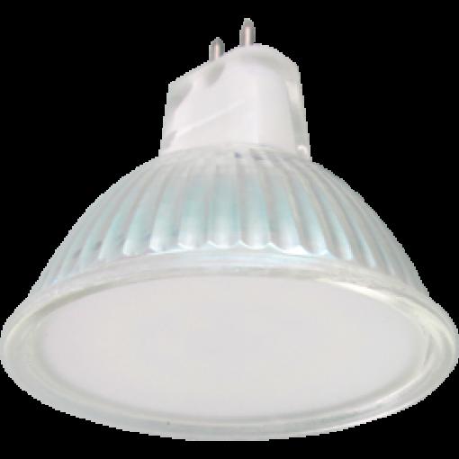 Ecola Light MR16 LED 5,0W 220V GU5.3 2800K матовое стекло 48x50