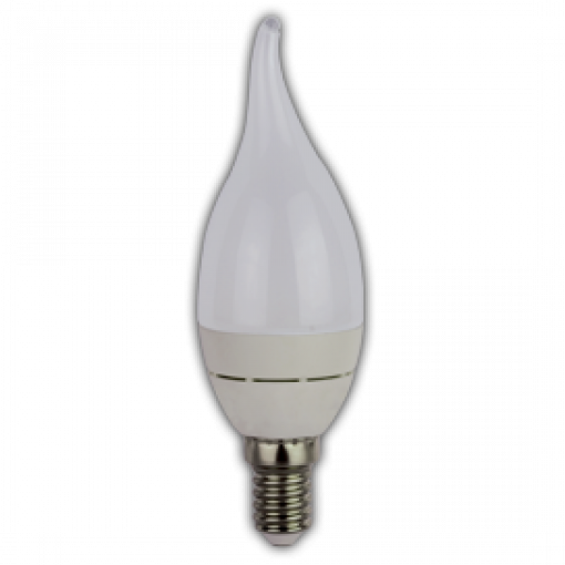 Ecola Light candle LED 3,7W 220V E14 4000K свеча на ветру (алюм. радиатор) 118x37