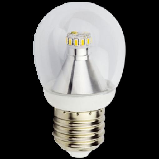 Ecola Light globe LED 3,4W G45 220V E27 4000K прозрачный шар искристая точка 79x45